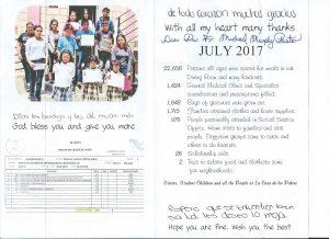 Casa de los Pobres July Report