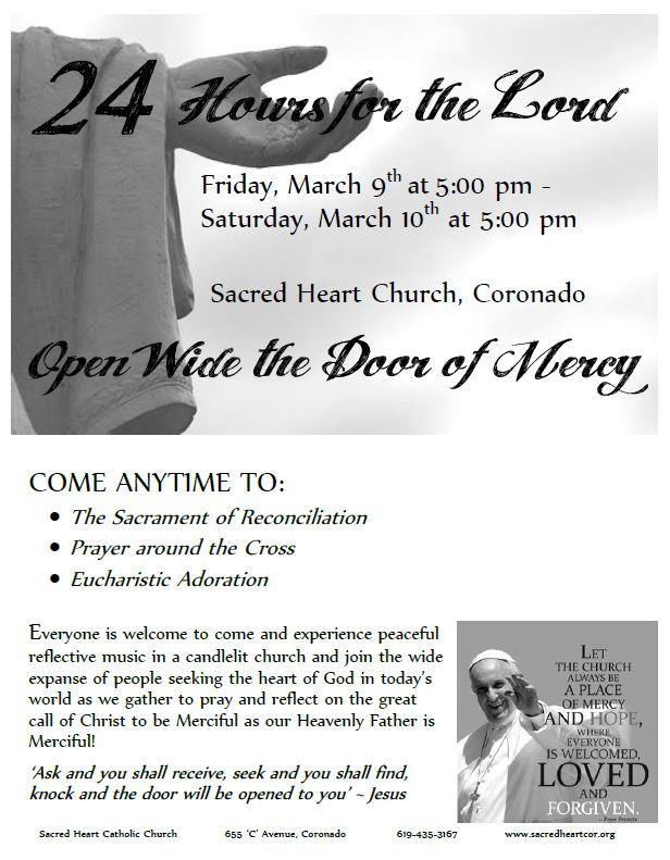 24 Hours for the Lord - Sacred Heart Coronado