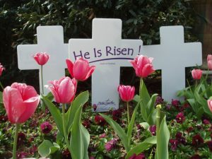 He Is Risen! Lawn Cross