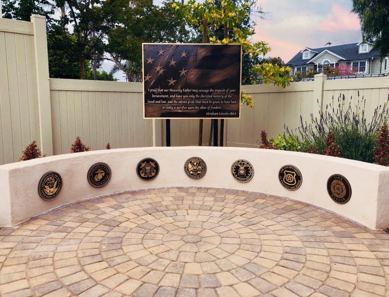 Heart of Jesus Prayer Garden Fallen Heroes Memorial Dedication