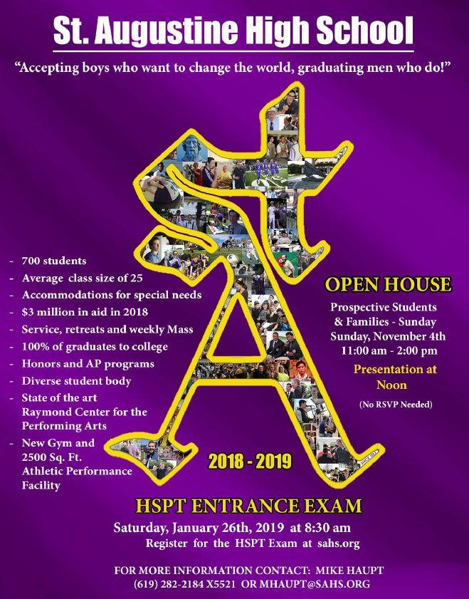 St. Augustine High School Open House