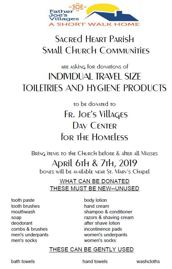 2019 Small Church Community Lenten Service Project