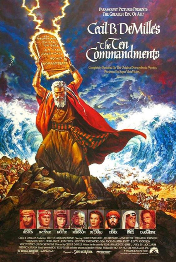 The Ten Commandments is showing at Village Theater