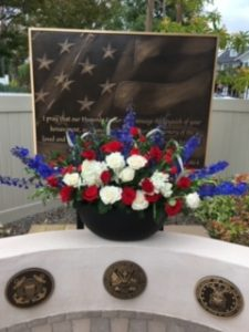 Memorial Day Flower Bouquet for the Hero's Memorial in the Heart of Jesus Prayer Garden