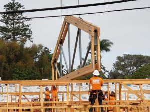 Installing the Trusses on Friday August 30th, 2019