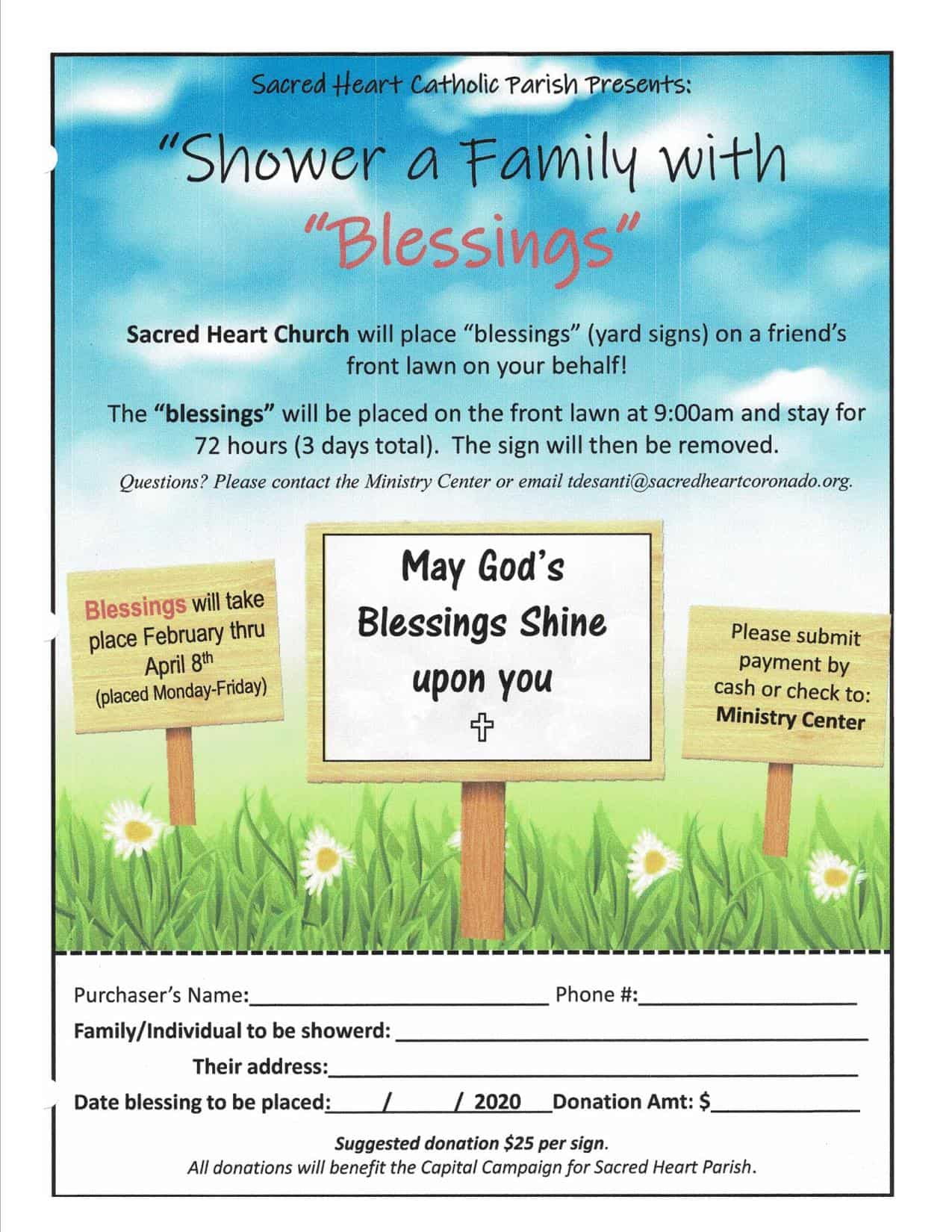 Shower a Family with Blessings